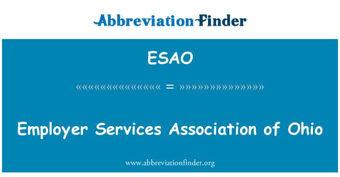 ESAO: 俄亥俄州雇主服务协会