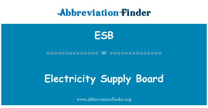 ESB: Electricity Supply Board