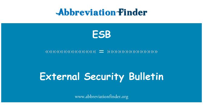 ESB: External Security Bulletin