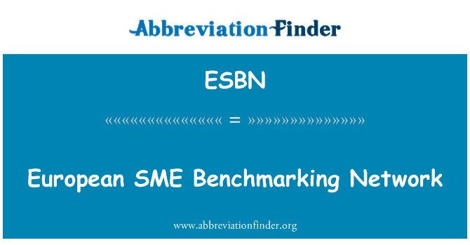 ESBN: European SME   Benchmarking Network