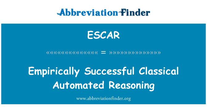 ESCAR: Empirisk vellykket klassisk automatisert resonnement