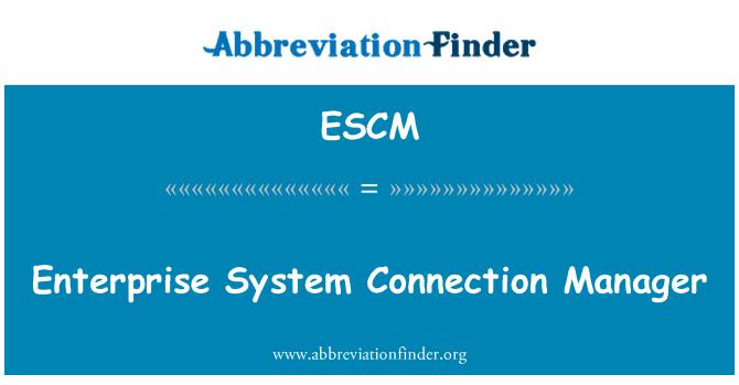 ESCM: Empresa sistema de Connection Manager