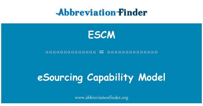 ESCM: eSourcing yeteneği modeli