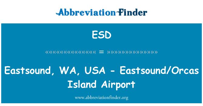 ESD: Eastsound, WA, USA - Eastsound/Orcas Island Airport