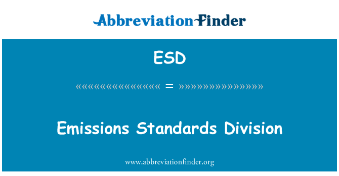 ESD: Emissions Standards Division