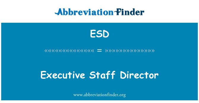 ESD: Executive Staff Director