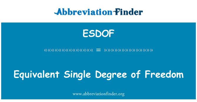 ESDOF: Equivalent Single Degree of Freedom