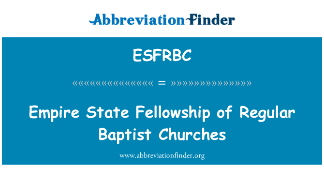 ESFRBC: Empire State Fellowship of Regular Baptist Churches