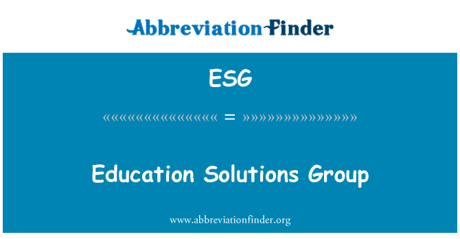 ESG: Education Solutions Group