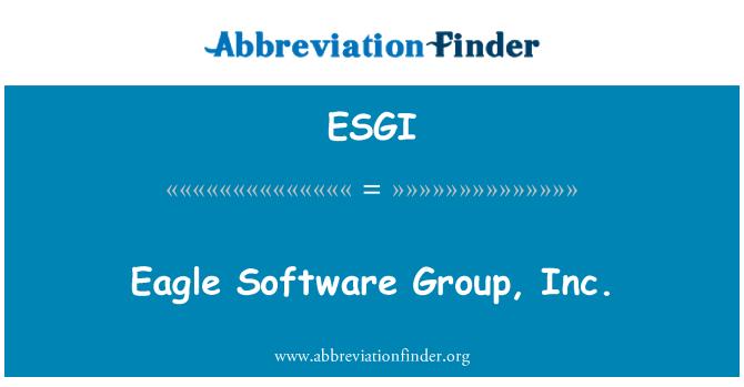 ESGI: Eagle Software Group, Inc.