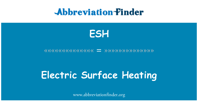 ESH: Electric Surface Heating
