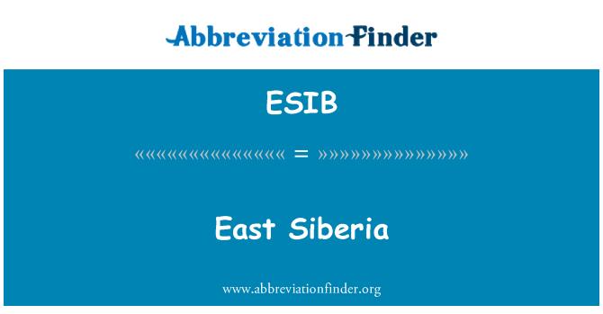 ESIB: Siberia del este