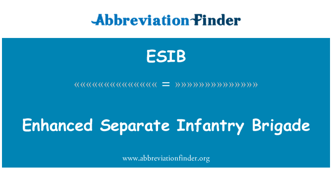 ESIB: Brigada de infantería independiente mejorada