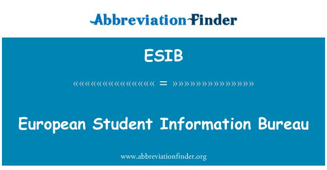 ESIB: European Student Information Bureau