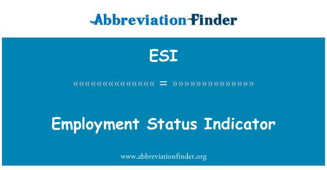 ESI: Employment Status Indicator