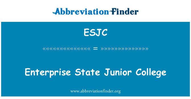 ESJC: Enterprise State Junior College