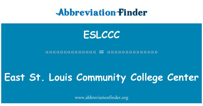 ESLCCC: East St. Louis Community College Center