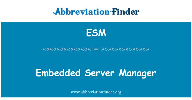 ESM: Embedded Server Manager