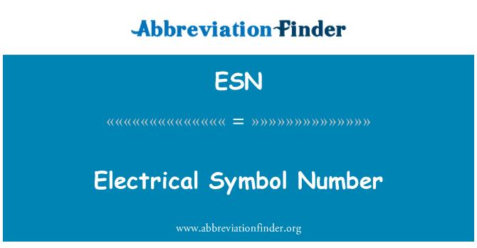 ESN: Electrical Symbol Number