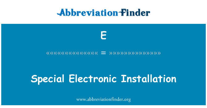E: Elektrooniline paigaldamise