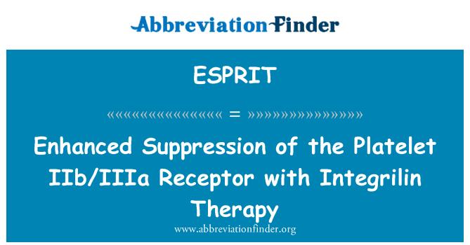 ESPRIT: Supresión mejorada del Receptor plaquetario IIb/IIIa con terapia Integrilin