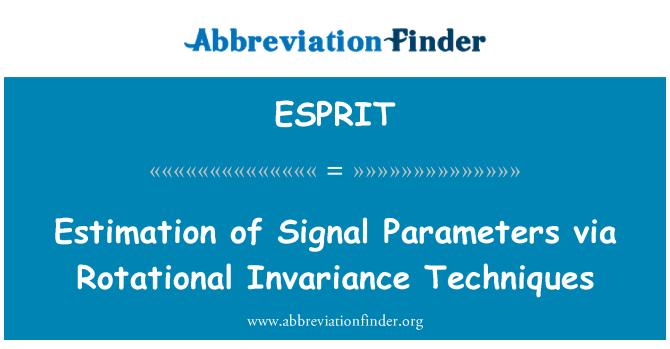 ESPRIT: Estimación de los parámetros de la señal mediante técnicas invariación rotatoria