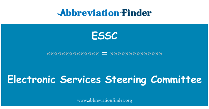 ESSC: Electronic Services Steering Committee