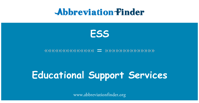ESS: Educational Support Services