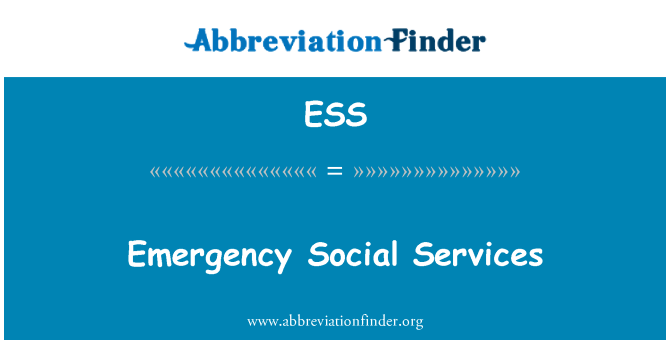 ESS: Emergency Social Services