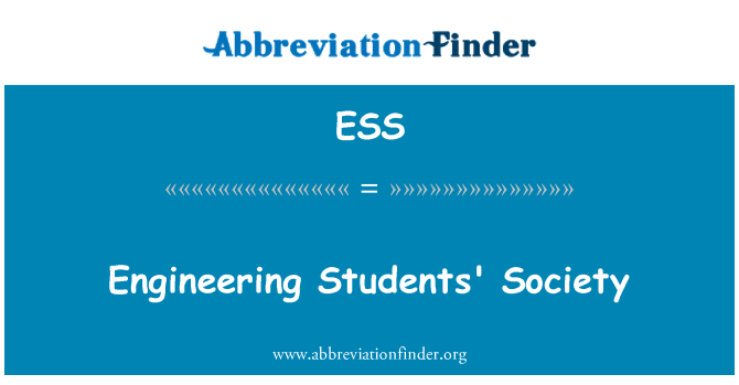 ESS: Engineering Students' Society