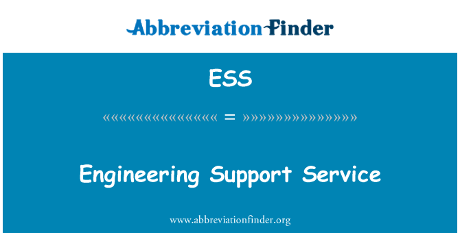 ESS: Engineering Support Service