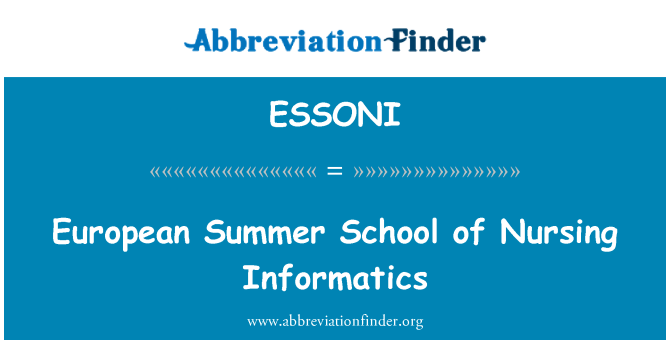 ESSONI: European Summer School of Nursing Informatics