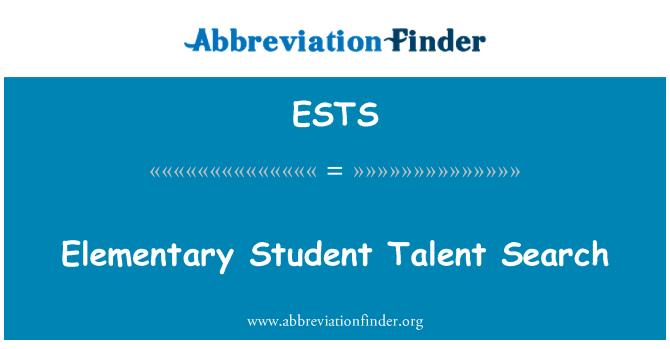 ESTS: İlköğretim öğrenci yetenek arama