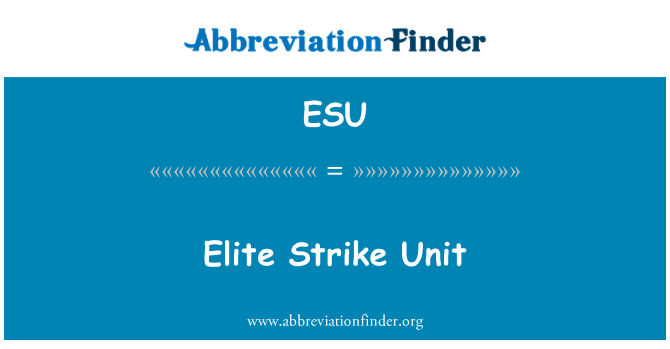 ESU: Elite Strike Unit