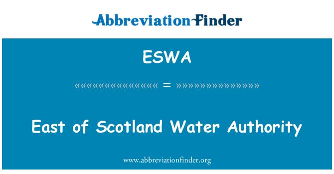 ESWA: East of Scotland Water Authority