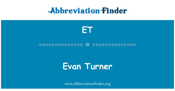 ET: Evan Turner