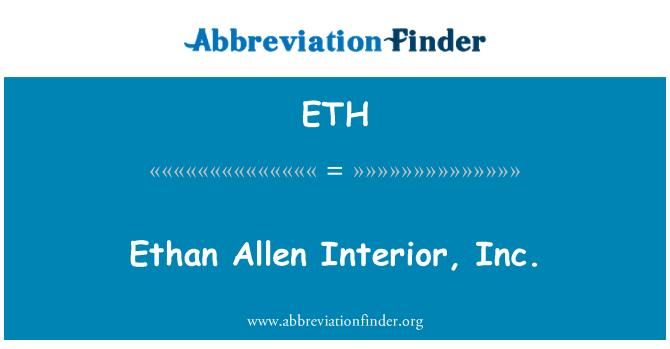 ETH: Ethan Allen Interior, Inc.