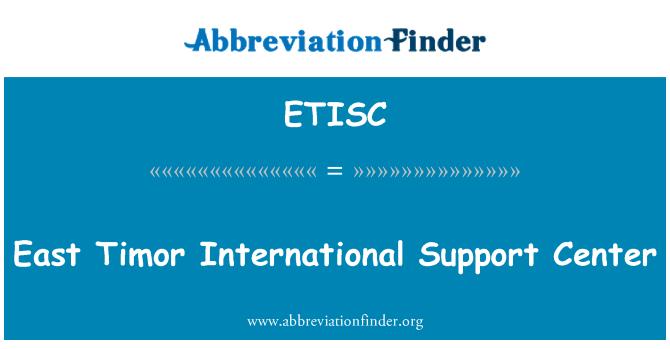 ETISC: East Timor International Support Center