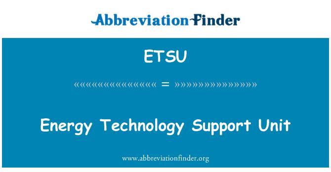ETSU: Energia tehnoloogia tugi seade