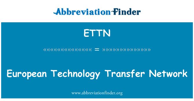 ETTN: European Technology Transfer Network