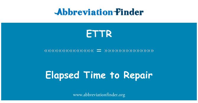 ETTR: Tiempo transcurrido para reparación