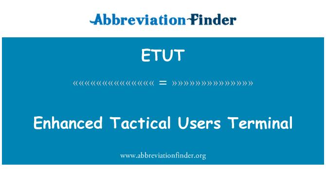 ETUT: Gelişmiş taktik kullanıcılar Terminal