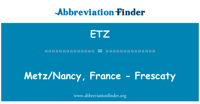 ETZ: Metz/Nancy, France - Frescaty