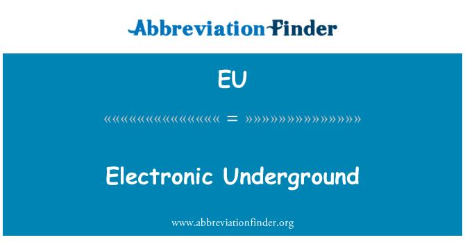 EU: Metro electrónico