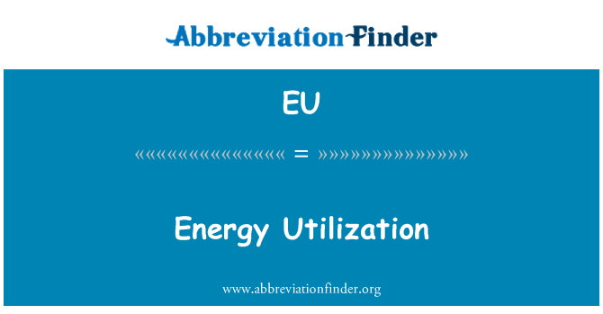 EU: Utilización de la energía