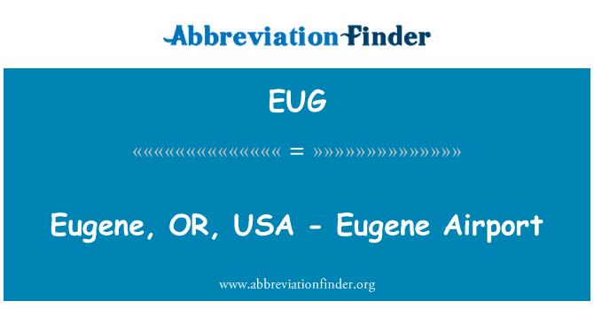 EUG: Eugene, OR, USA - Eugene Airport