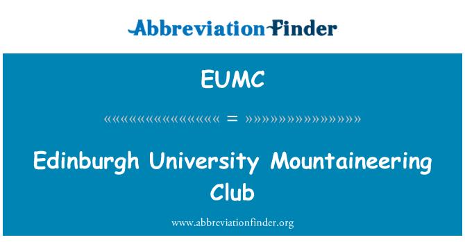 EUMC: Edinburgh University horolezeckého klubu