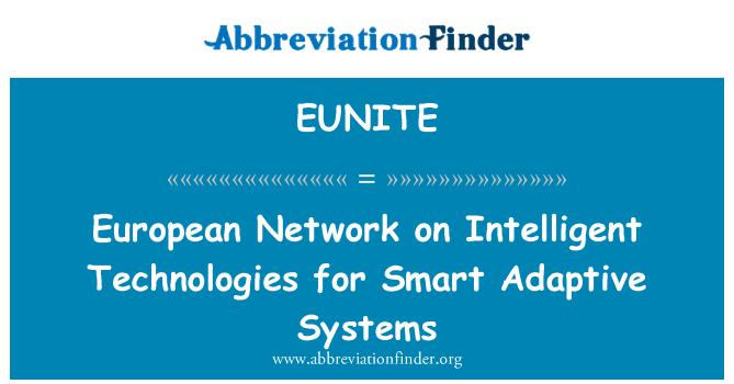 EUNITE: European Network on Intelligent Technologies for Smart Adaptive Systems