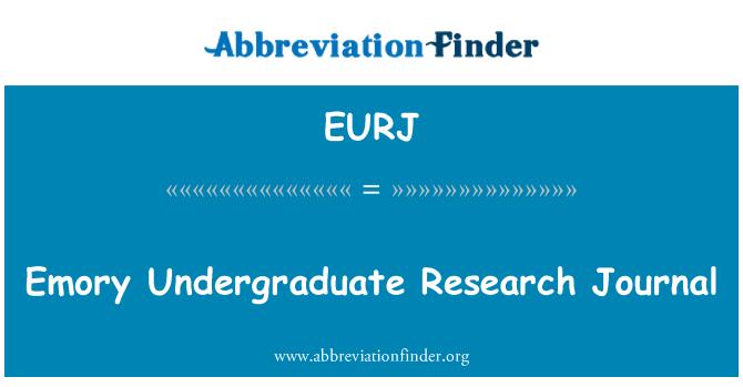 EURJ: Emory Undergraduate Research Journal
