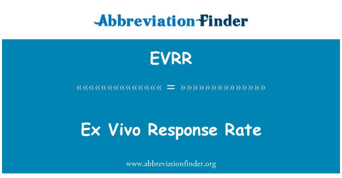 EVRR: Ex Vivo Response Rate